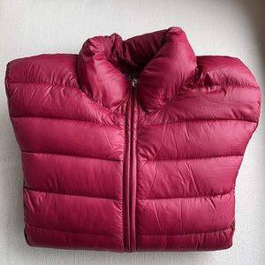 PERFECT PACKABLE PREMIUM DOWN PUFFER COAT GOLD ACCENTS